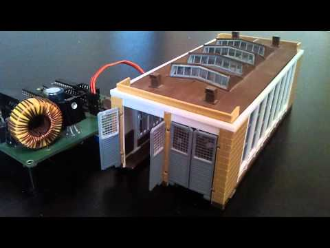 SD-8-V2: Video: SD-8-V2 steuert Servo im Lokschuppen