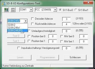 SD-8-V2: Neues Einstell-Tool verfügbar