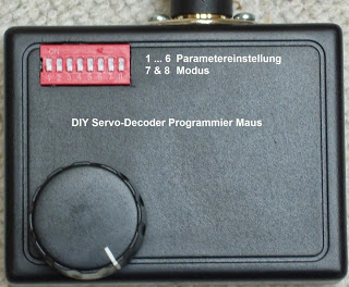 SD-PM-V1: Programmiermaus für den SX-Servodecoder SD-8-V2 verfügbar