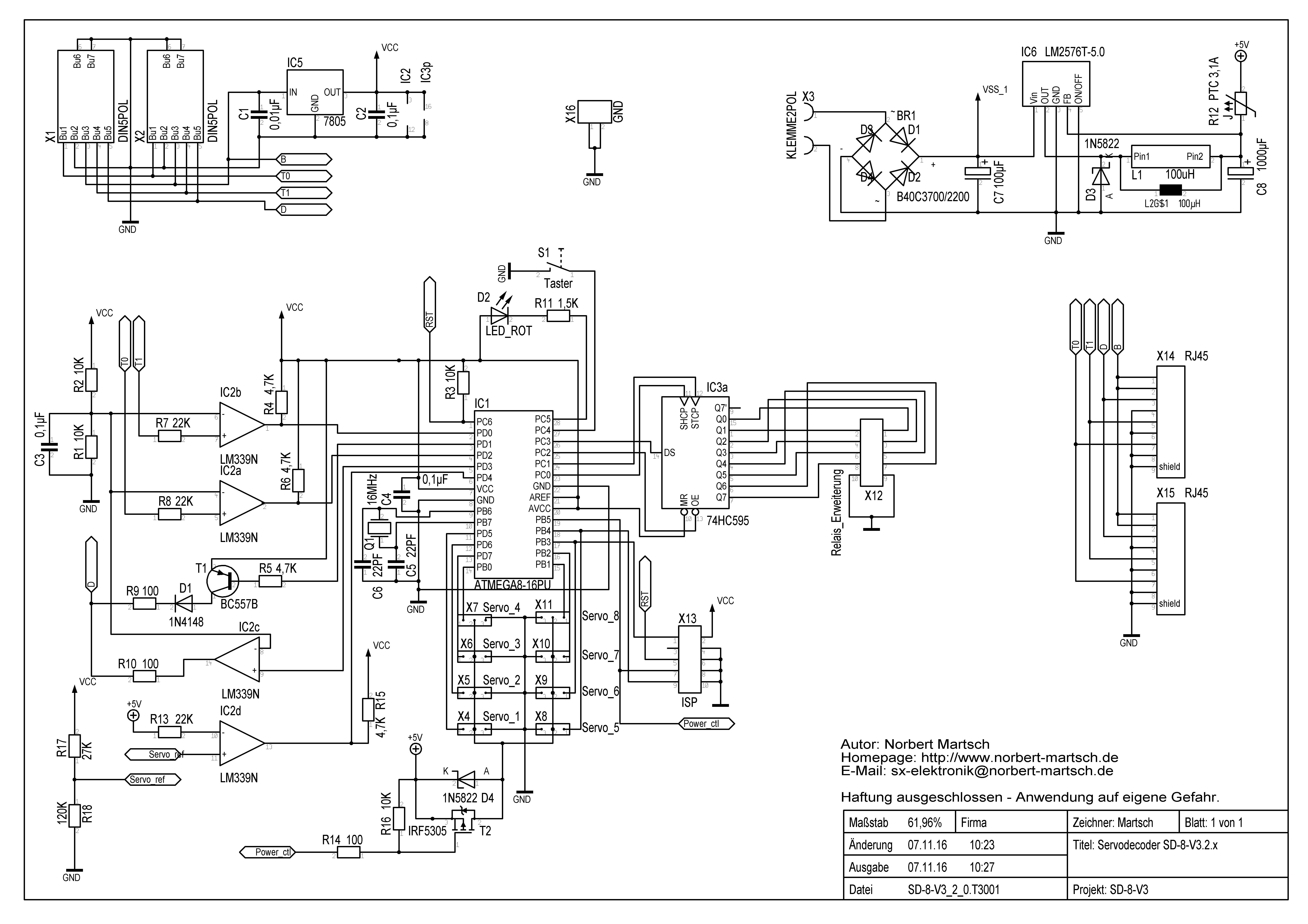 Servodecoder V3 – Norbert Martsch – SX-Elektronik und Modelleisenbahn
