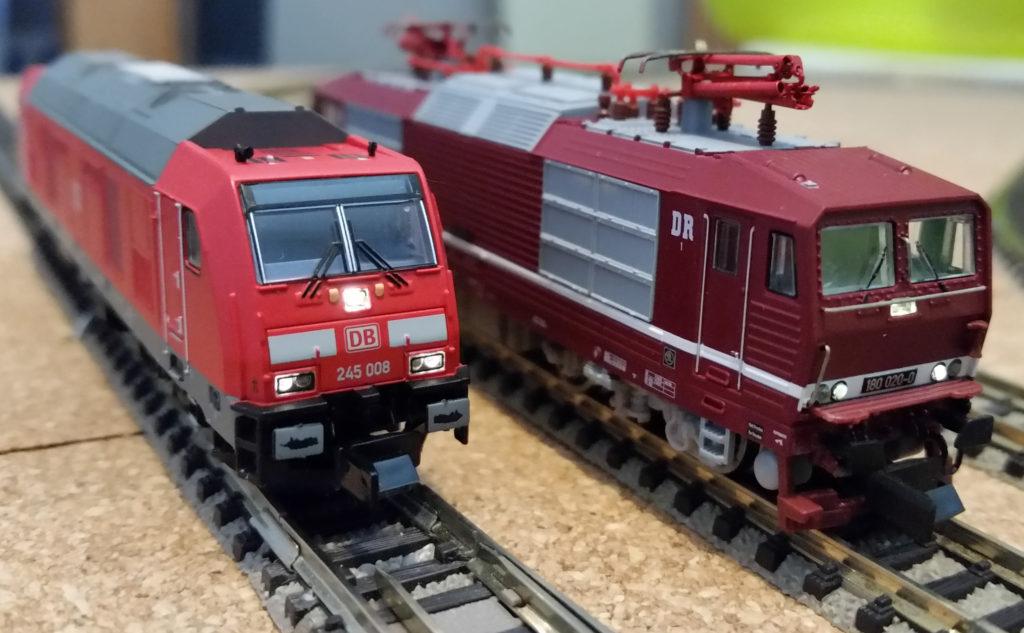 """BR 245 und BR 180 (""""Knödelpresse"""") auf Testfahrt"""