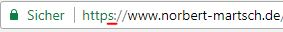 Website ab sofort sicher über https (SSL) erreichbar
