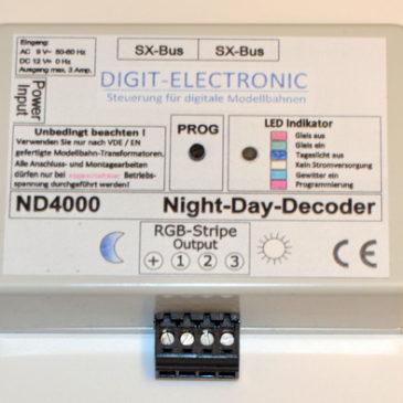 Digit-Electronic: Neuer Nacht-Tag (Night-Day) Decoder ND4000 verfügbar