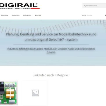 Digirail®: Wieder da und neue Homepage
